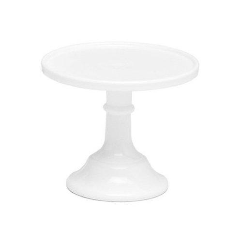 White Milk Glass Cake Stand 15cm