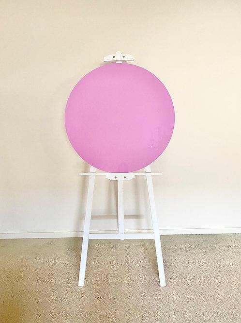 Round Pastel Violet Acrylic Disc