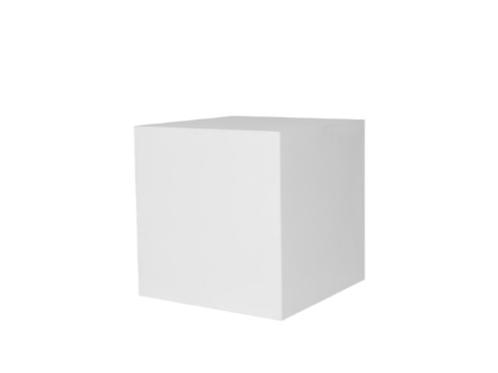 Square White Plinth 50cm