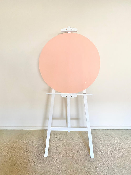 Round Pink Acrylic Disc