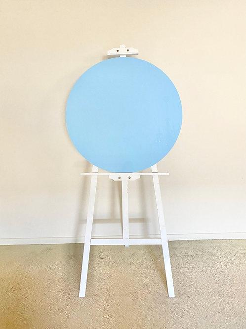 Round Blue Acrylic Disc