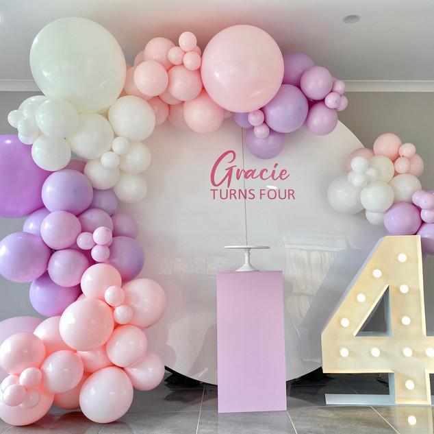 Gracie turns Fours
