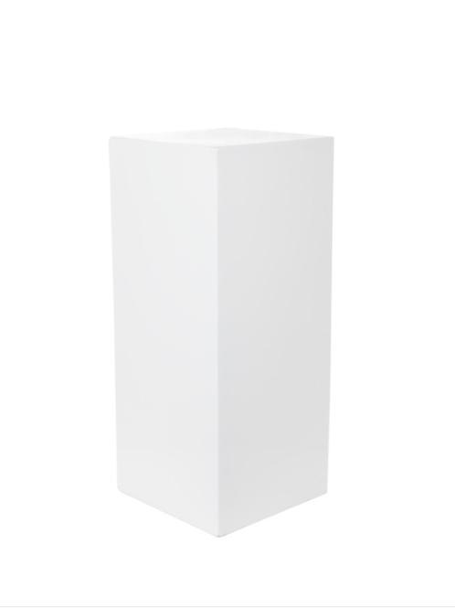 Square White Plinth 80cm