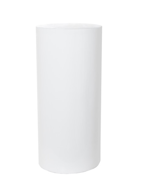 Round White Plinth 75cm
