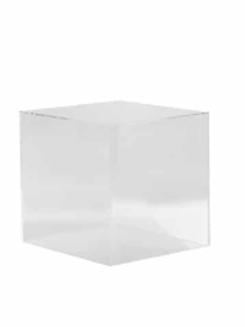 Square Clear Plinth 50cm