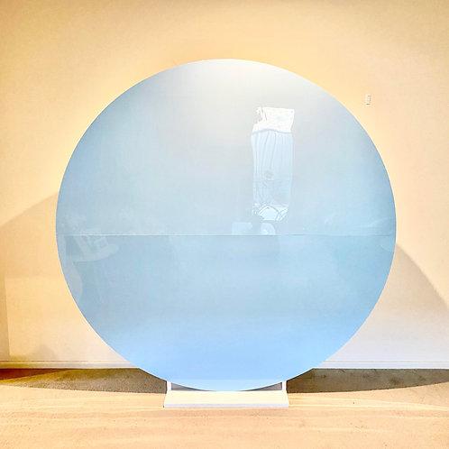 Round Blue Acrylic Backdrop