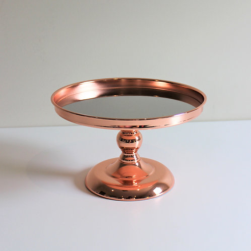Luxe Rose Gold Cake Stand 25cm