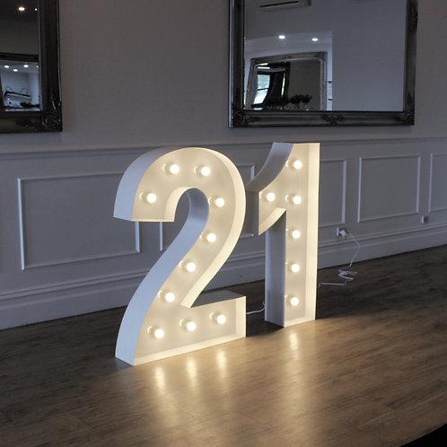 Giant Illuminated 21
