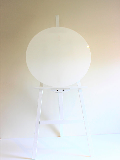 Acrylic Round Sign with Easel
