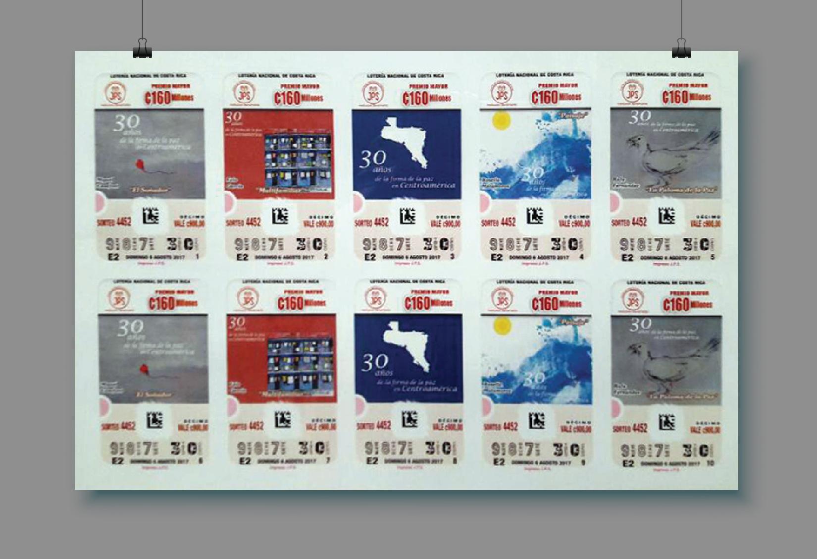 Ejemplar billete de Loteria