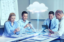 business people cloud computing and tech