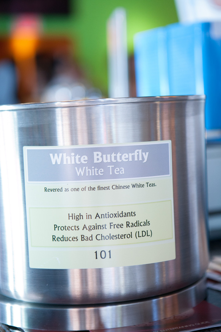 White Butterfly White Tea - Product Photography