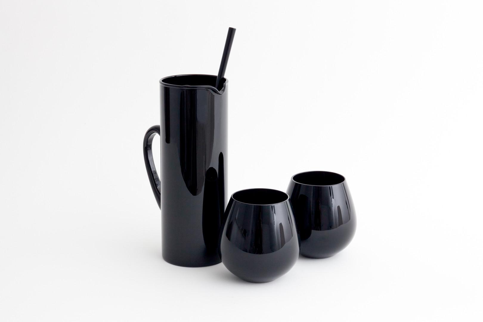 Black Decanter and Mug Set - Product Photography