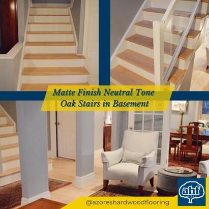 Matte Finish Neutral Tone Basement Stairs