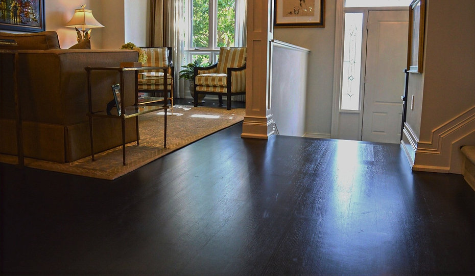 Dark Hardwood Flooring Installation by Azores Hardwood Flooring in Oakville