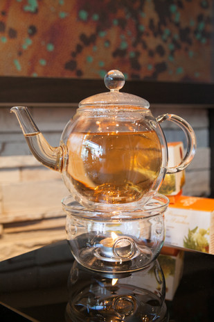 Glass Tea Kettle Display - Product Photography