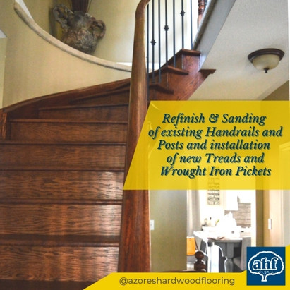 Sand and Refinish of Classic Curved Staircase
