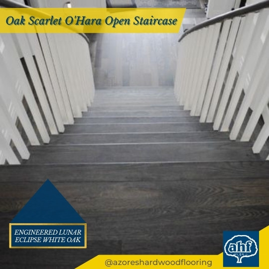 Lunar Eclipse White Oak Scarlet O'Hara Staircase