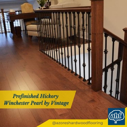 Prefinished Hickory Stair Case Renovation