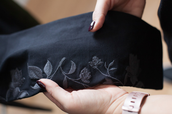 Embroidered Jeggings - Clothing Photography