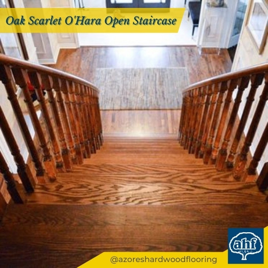 Classic Style Oak Scarlet O'Hara Open Staircase