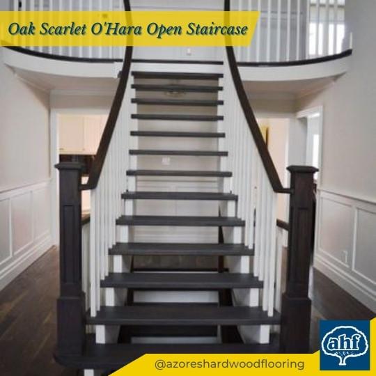Oak Scarlet O'Hara Open Stair Case