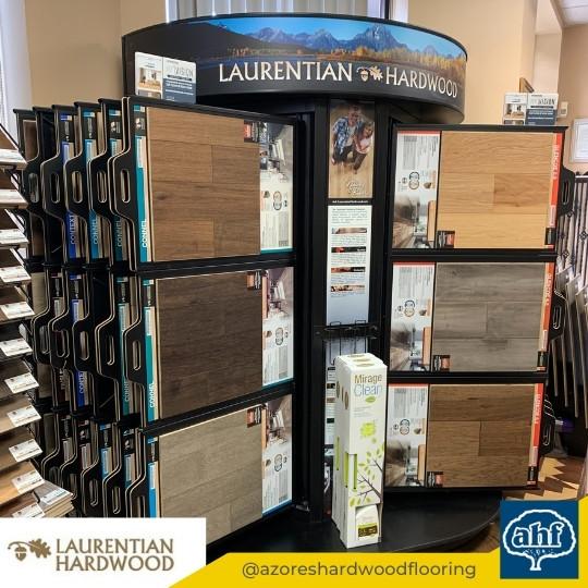 Laurentian Flooring Sample Display