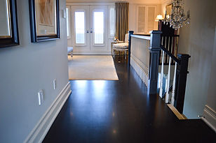 Dark Style Hardwood Flooring Installation by Azores Hardwood Flooring in Burlington
