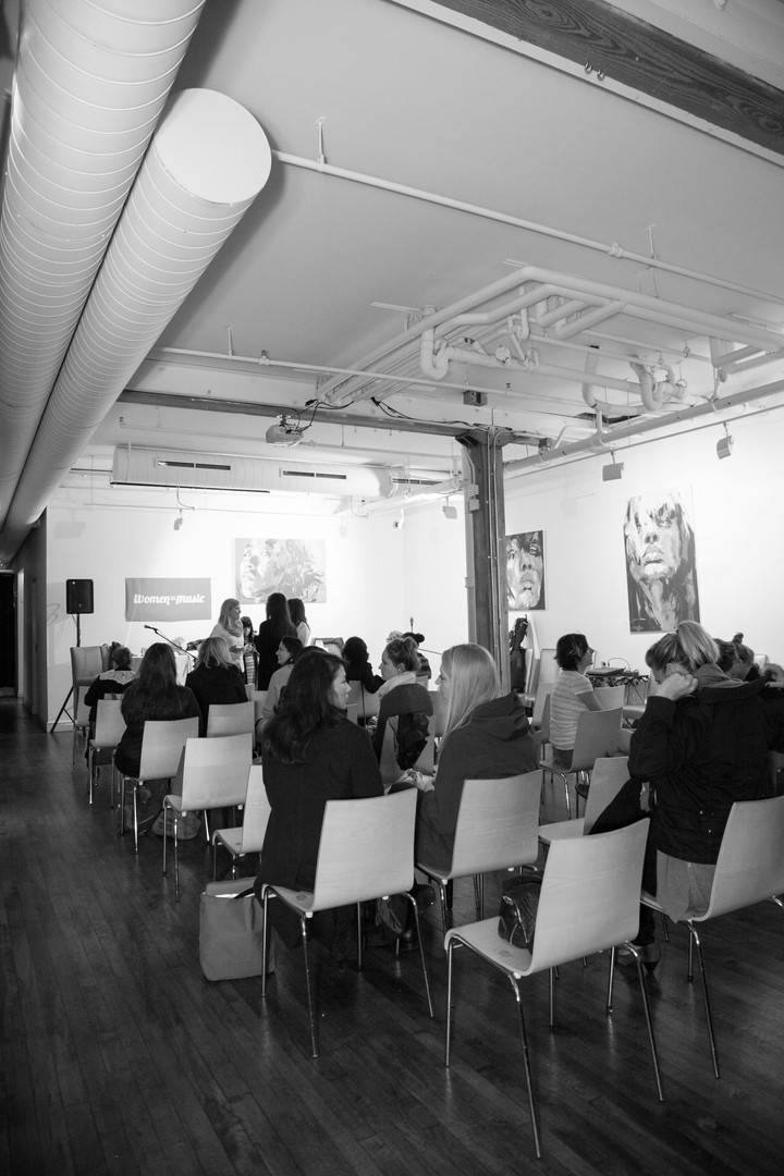 Women in Music Event Photography Downtown Toronto Black and White