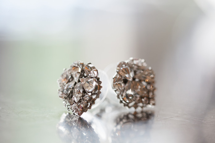 Antique Diamond Earring Set - Jewelry Photography