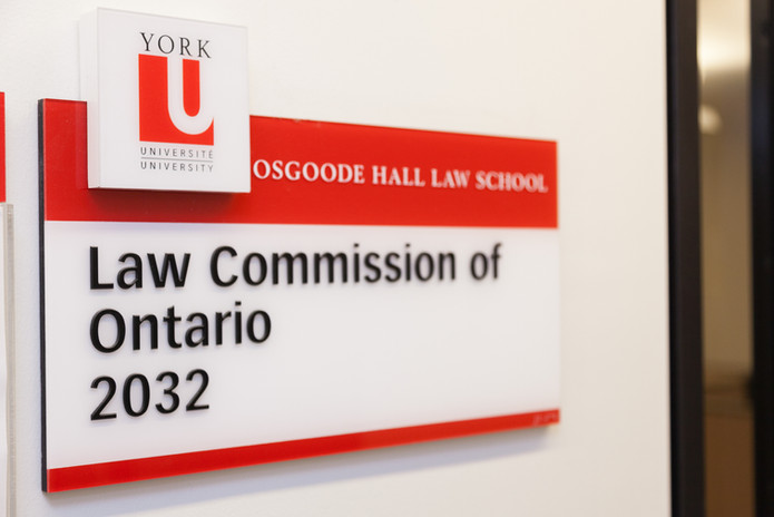 Law Commission of Ontario York University Sign - Corporate Photography