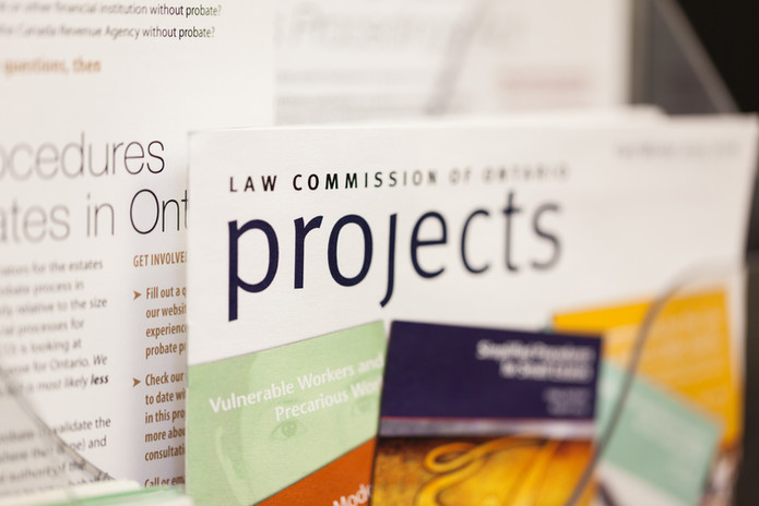 Law Commission of Ontario York University Brochures - Corporate Photography
