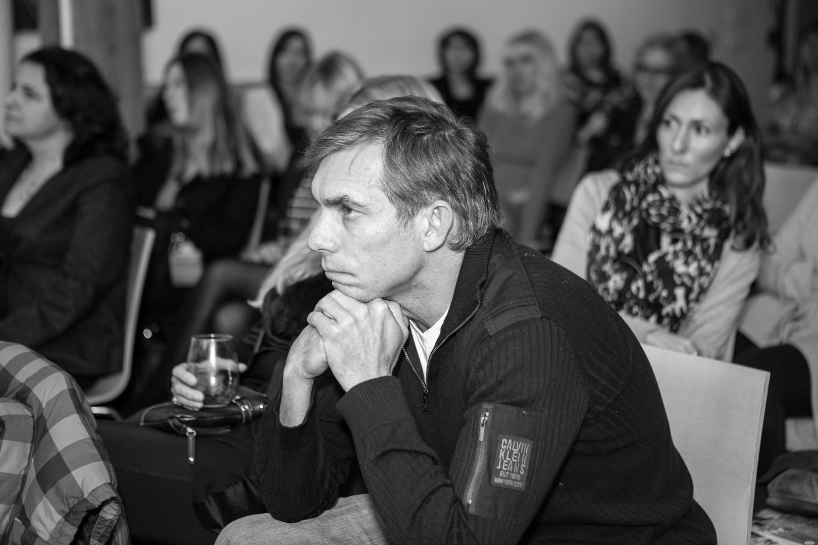 Women in Music Event Photography Downtown Toronto Black and White Photo