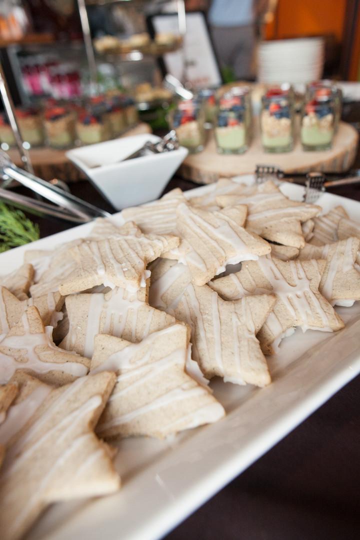 Plate of Seasonal Star Cookies - Food Photography