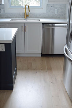 Full Modern Kitchen Hardwood Flooring Renovation by Azores Hardwood Flooring