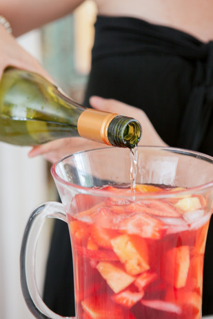 White Wine Sangria - Live Action Product Photography