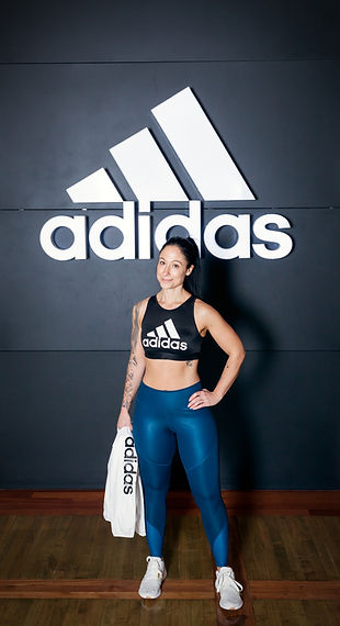 Denise is shown here in front of the Adidas store in Vaughan Mills Mall as a part of a photoshoot where I was asked to take pictures of her during a wellness themed week at the mall