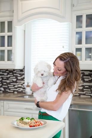 Viky Rose Influencer Blogger Entrepreneur Photoshoot - With Dog