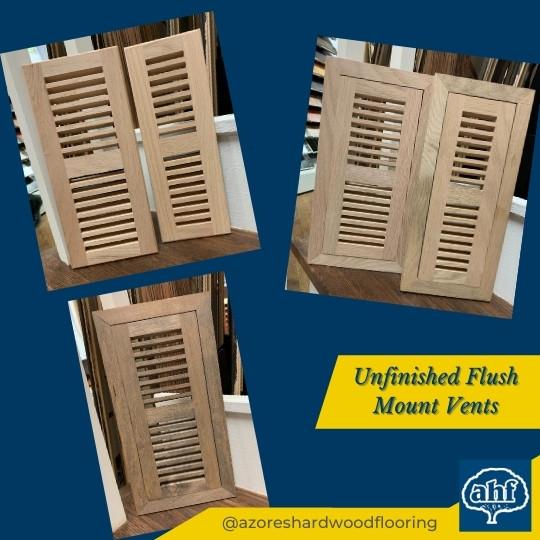 Unfinished Customizable Flush Mount Vents