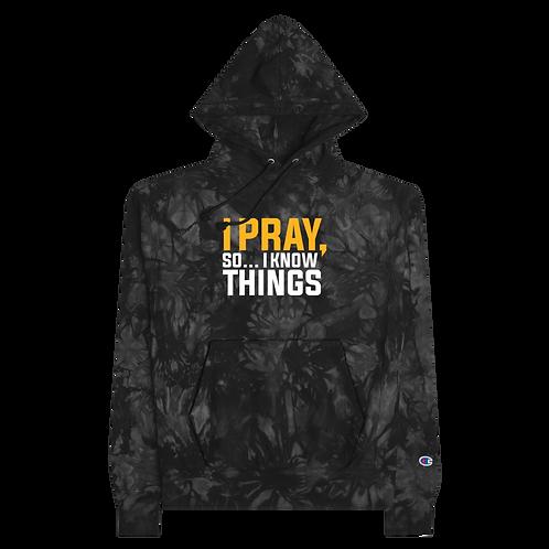 Limited I Pray Champion tie-dye hoodie