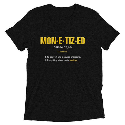 Monetized t-shirt
