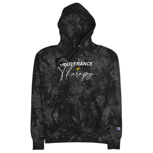 Deliverance + Therapy Champion tie-dye hoodie