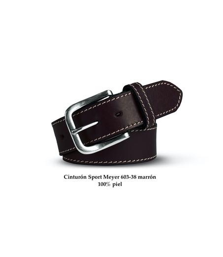 Cinturón Meyer piel marrón