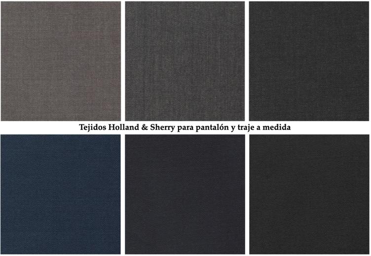 Tejidos Holland & Sherry grises marinos
