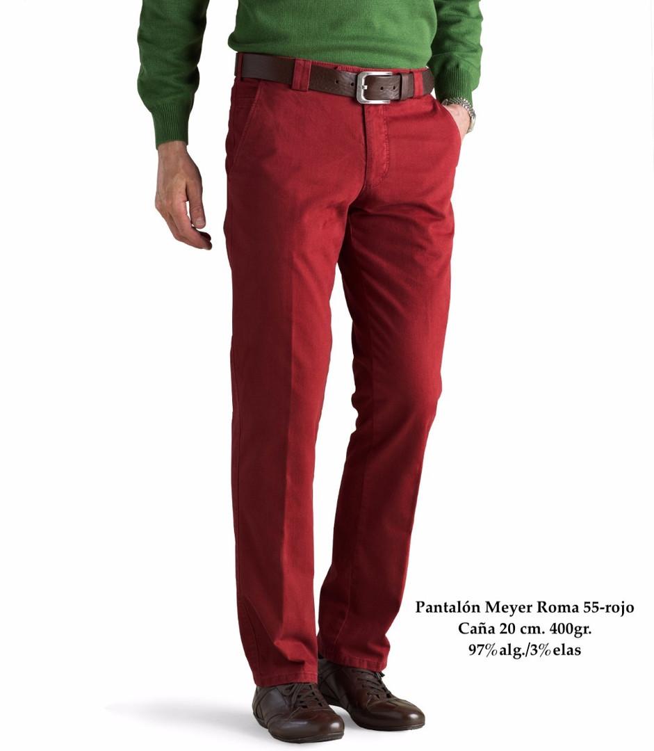 Pantalón Meyer Roma 55-rojo