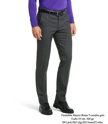 Pantalón Meyer Bonn 7-cuadro gris