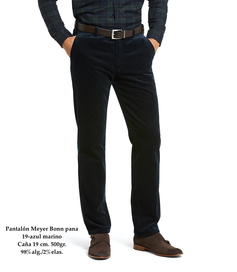 Pantalón Meyer Bonn 19-azul pana