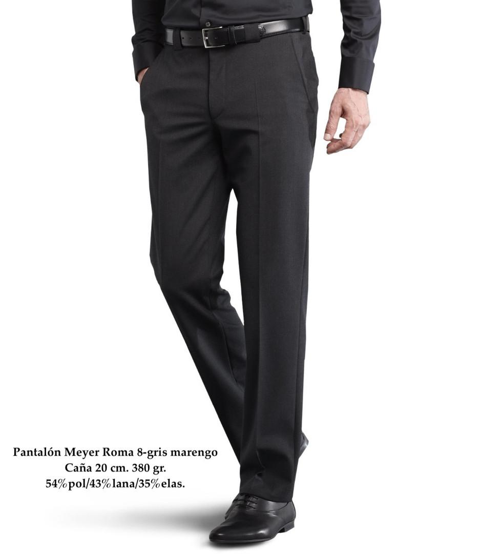 Pantalón Meyer Roma 8-gris marengo