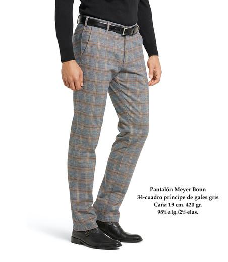 Pantalón Meyer cuadro príncipe de gales