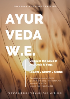 Ayurveda Weekend Poster